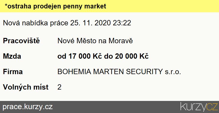*ostraha prodejen penny market, Pracovníci ostrahy, strážní